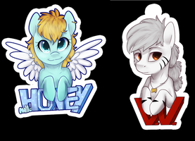 Badges commission by Imalou