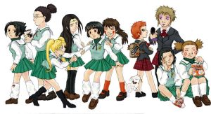 Naruto boys as school girls by suppai