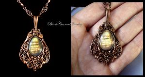 Golden Glow Pendant by blackcurrantjewelry