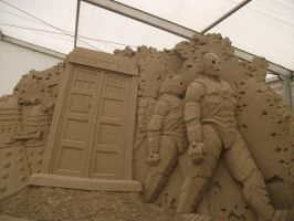 doctor who sand sculpture part 2 by UndertakerisEpic