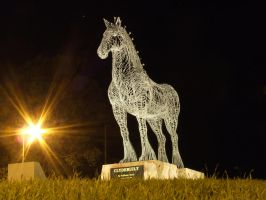 Clydesdale Statue 003 - Stock by EasternBrumbyStock