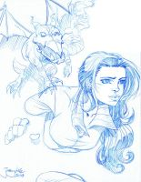 SKETCH Shadowcat n Lockheed by thejeremydale