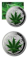 Cannabis Coin by HappilyDayzed