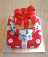Christmas cake-red gifts by KarenJerram