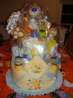 Diaper Cake by ArtisticBlkSoul