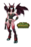 WoW Succubus Cut Out by atagene