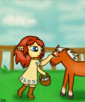 Malon and Epona by Jrynkows