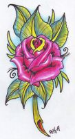 Neo Traditional Rose 09 by vikingtattoo