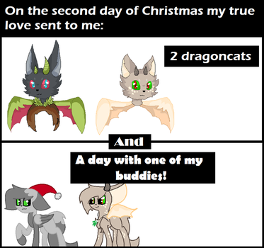 On the second day of Christmas: by DerpyHooves450