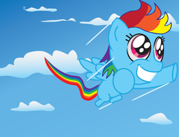 Rainbow Dash Filly by MidnightQuill