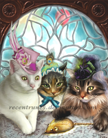Cats in Hats by recentrunes