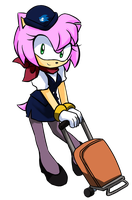 Flight attendant Amy by GaruGiroSonicShadow