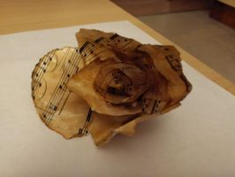 Stained paper rose by LinMac
