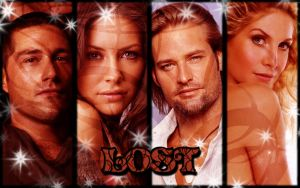 Lost - Jack-Kate-Sawyer-Juliet by CertainlyLostFameGal