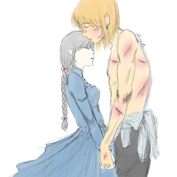 Howl and Sophie by LunaOfWater