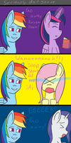Comic: Seriously Dat Stare! by Wolfy-Pony