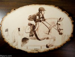 Horse Competition - Wood burning by brandojones