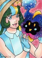 ACEO PokeMarie and Cosmog