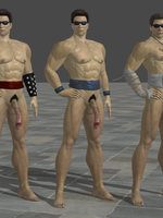 Nude Johnny Cage! by anorexianevrosa