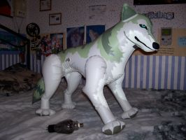 My Inflatable Wolf by Silverwolf-1ofmany