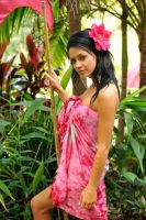 Tara - sarong and flower 1 by wildplaces
