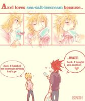 Axel Loves Sea-salt-icecream. by illbewaiting