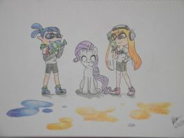 Rarity and the Inklings by BrianChooBrony-Artie