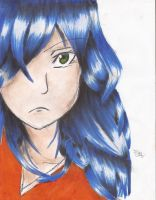 Blue-Haired Girl by animanga1