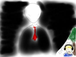 Pewdiepie and Slenderman by JapanIsAwsome