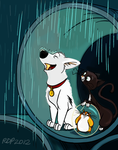 Disney Colouring Page - Third entry (Bolt) by Smiley1starrs
