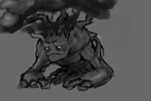 Speed Paint Tree Golem by Mr-Hades