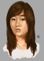 SNSD - Tiffany Speedpaint by Jeffufu
