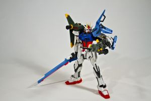 RG GAT-X105 Strike Gundam w/Striker and Sword by aryss-skahara