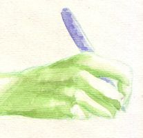 Green Hand by Dwaer