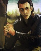 Acrylic - Hiddles as Loki by Sukautto