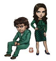 Hannibal - Will Graham and Dr Bloom by Ciorane