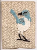 ATC Fabric Scrub Jay B by claudiamm37