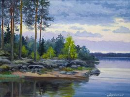 Karelian Lake by LeonidSh
