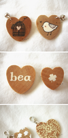 wooden hearts , by hearte
