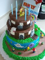 Super Mario Birthday Cake 3 by JasonChapman