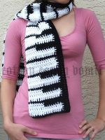 Piano Scarf by cottoncandyvomit