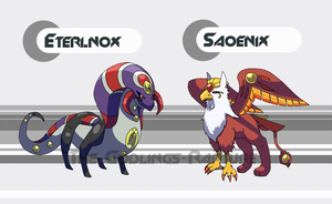 Pokemon Tanzanite Mascot Legendaries by The-Godlings-Rapture