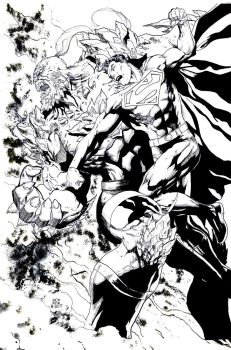 Classic Superman vs Doomsday by 7daywalk
