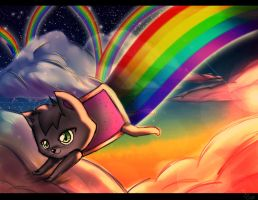 Little Nyan Cat by AlinaCat923