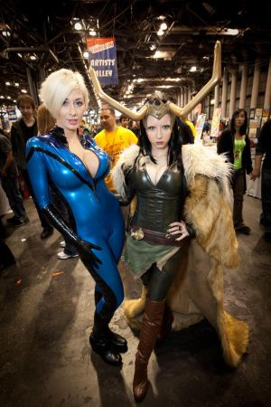 Loki and Sue Storm by pinguino