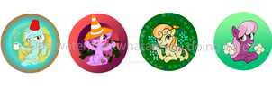 Pony Buttons So Far by Shinyako