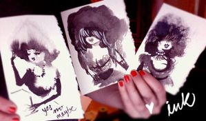 inky girls by OhAnneli