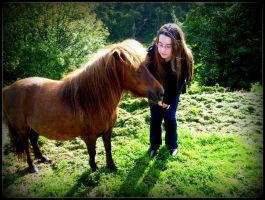 Standing next to a beautiful Shetland Pony by penguin-genius