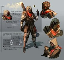 Heavy Arms Soldier - Concept Art by Ethreain