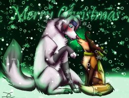 +.A Christmas Kiss.+ by DarkChocaholic